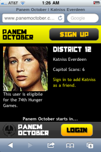 Panem October Katniss profile