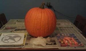 Victor's Village Pumpkin Carving Setup