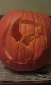 Mockingjay pin pumpkin ruined