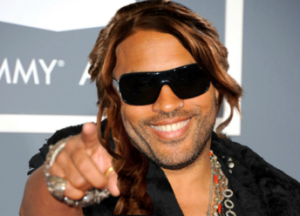 Lenny Kravitz as Cinna with Katniss Everdeen braid