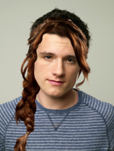 Josh Hutcherson Peeta Mellark with Katniss Braid