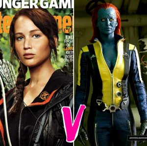 Jennifer Lawrence Katniss The Hunger Games Mystique X-Men First Class