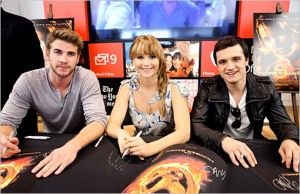 Jennifer Lawrence Josh Hutcherson Liam Hemsworth Entertainment Weekly