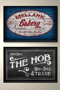Blueleaf Creative The Hob Mellark Bakery posters