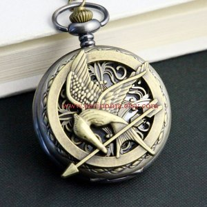 Mockingjay pocket watch necklace sevinoma.etsy.com