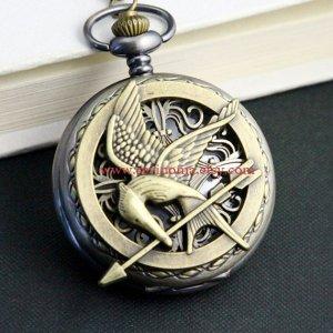 Mockingjay pocket watch necklace sevinoma.etsy.com