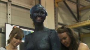 Jennifer Lawrence as Mystique X-Men First Class makeup process