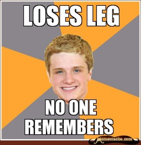 The Hunger Games Peeta Mellark Josh Hutcherson leg