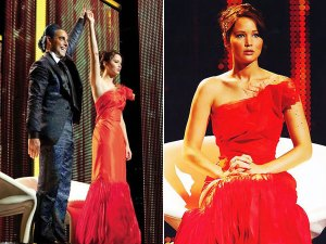 Girl on Fire dress The Hunger Games