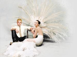 Katniss Everdeen Peeta Mellark The Hunger Games Catching Fire wedding photo