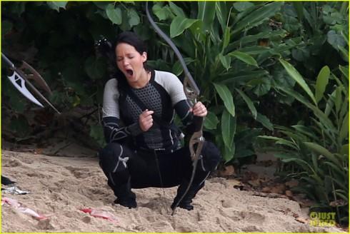 Jennifer Lawrence Katniss Everdeen Catching Fire Set
