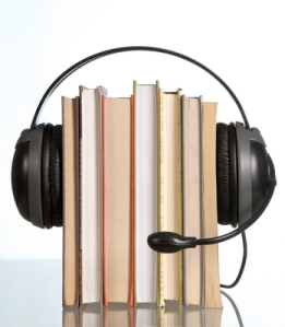 Books and headphones audiobooks