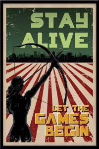 Stay Alive Hunger Games Poster Blueleaf Creative Etsy