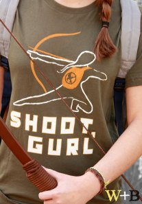 Shoot Gurl Hunger Games t-shirt tee theWolfandtheBee