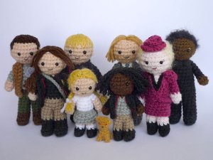 Crocheted Hunger Games characters by LunasCrafts