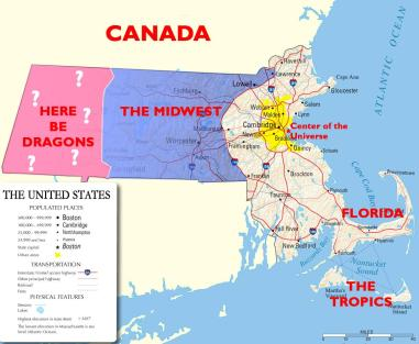 Massachusetts according to Bostonians