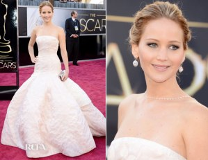 Jennifer Lawrence Oscars Academy Awards 2013 red carpet