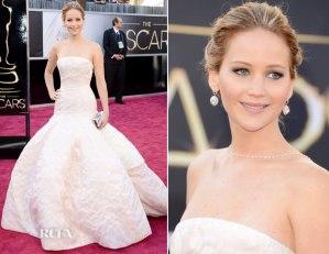 Jennifer Lawrence Oscars Academy Awards 2013 red carpet