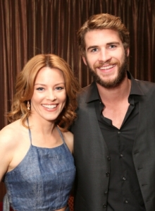 Elizabeth Banks and Liam Hemsworth CinemaCon 2013