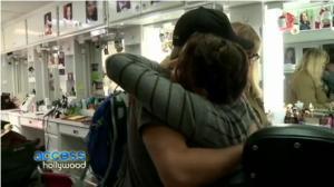 Jen and Josh hugging