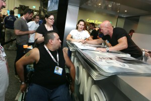 Bruno Gunn signing a poster for a fan, or at least we hope he was a fan.