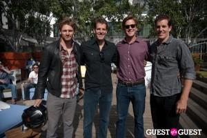 Josh Pence, Tyler Winklevoss, Armie Hammer, and Cameron Winklevoss