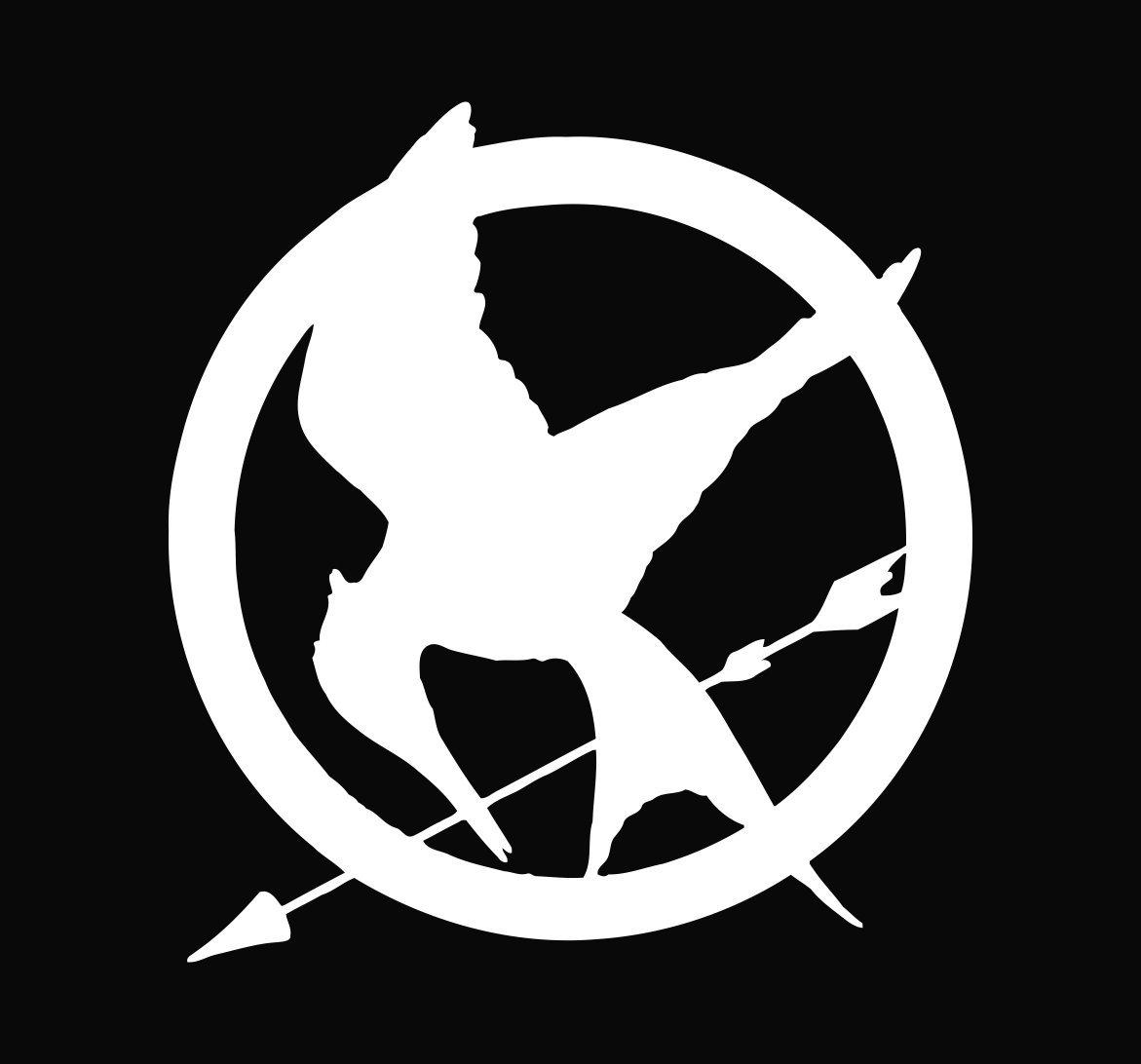 Mockingjay Logo Black And White Mockingjay Pin Black A...