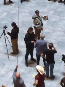 Liam Hemsworth The Hunger Games Mockingjay set Capitol rescue