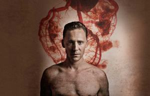 Tom Hiddleston in a promo poster for Coriolanus