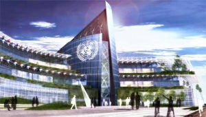 Futuristic council meets in... No wait, this is a concept sketch for a new UN building!