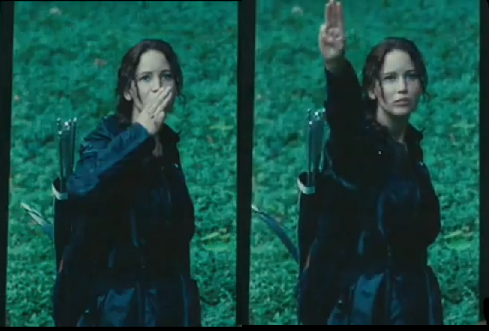What does the three finger salute mean in Hunger Games?