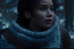 Yes, Katniss suffers from PTSD and it's a big part of Mockingjay. But it would be unrealistic to gloss over her trauma.