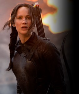 We're missing a few cast pictures but this one of Katniss kind of makes up for it.
