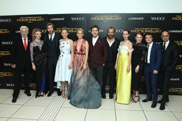 mockingjay premiere photo call