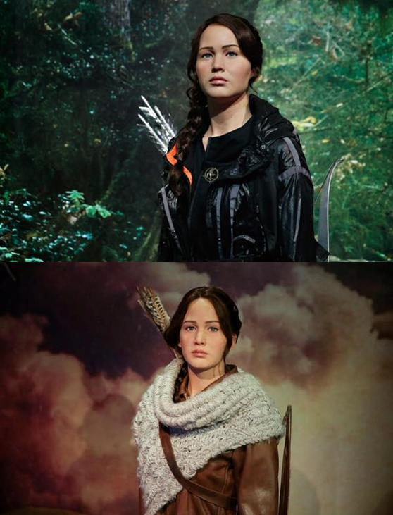 Katniss in NY (top) and LA (bottom)