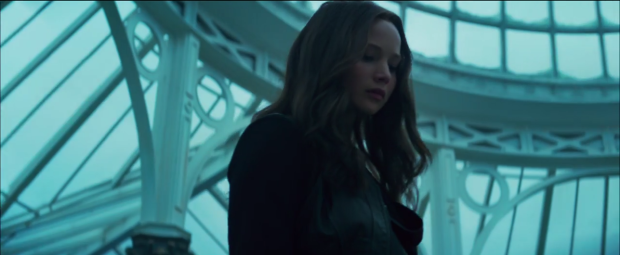Katniss looks down