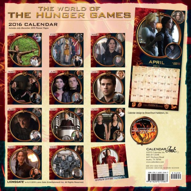 Hunger Games 2016 calendar